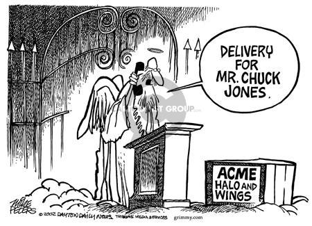 Cartoonist Mike Peters  Mike Peters' Editorial Cartoons 2002-02-27 announcement