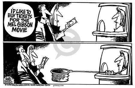 Cartoonist Mike Peters  Mike Peters' Editorial Cartoons 2004-02-27 movie theater