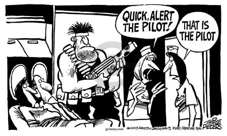 Cartoonist Mike Peters  Mike Peters' Editorial Cartoons 2003-02-28 airplane