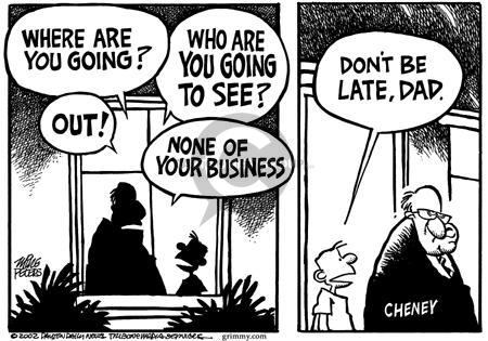 Cartoonist Mike Peters  Mike Peters' Editorial Cartoons 2002-03-01 war