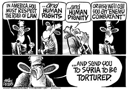 Mike Peters  Mike Peters' Editorial Cartoons 2005-03-03 rule of law