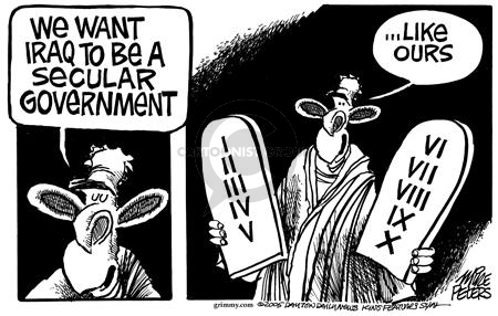 Cartoonist Mike Peters  Mike Peters' Editorial Cartoons 2005-03-04 Constitution