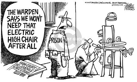 High Court:  No Juvenile Executions.  The warden says we wont need that electric chair after all.  Prison.