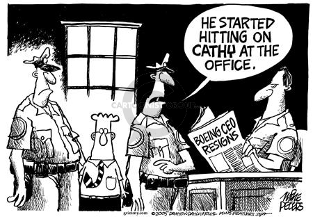 Cartoonist Mike Peters  Mike Peters' Editorial Cartoons 2005-03-09 political behavior
