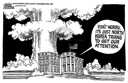 Cartoonist Mike Peters  Mike Peters' Editorial Cartoons 2003-03-10 nuclear proliferation