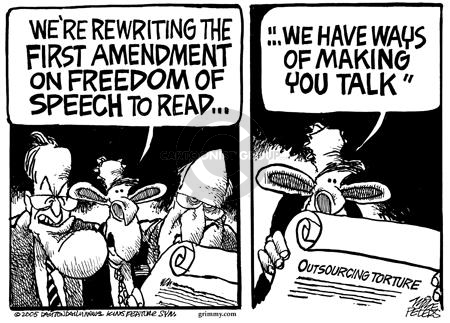 Mike Peters  Mike Peters' Editorial Cartoons 2005-03-10 freedom of the press