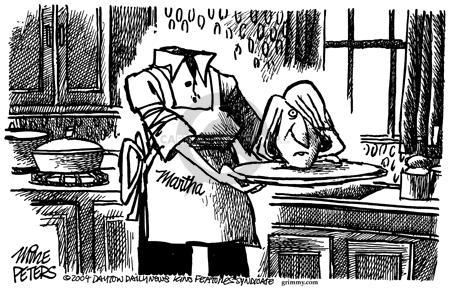 Cartoonist Mike Peters  Mike Peters' Editorial Cartoons 2004-03-11 trade