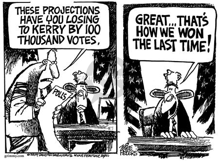 Mike Peters  Mike Peters' Editorial Cartoons 2004-03-21 2000 election