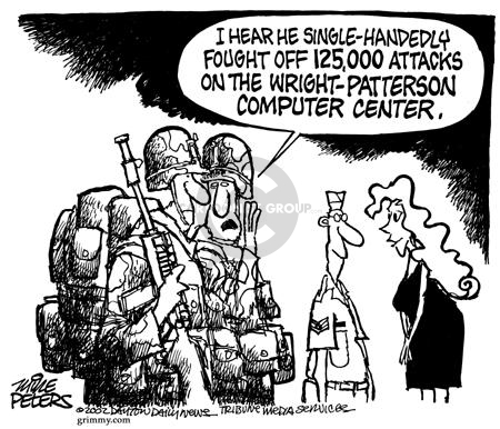 Cartoonist Mike Peters  Mike Peters' Editorial Cartoons 2002-03-27 hack
