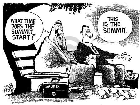 Cartoonist Mike Peters  Mike Peters' Editorial Cartoons 2002-03-29 war