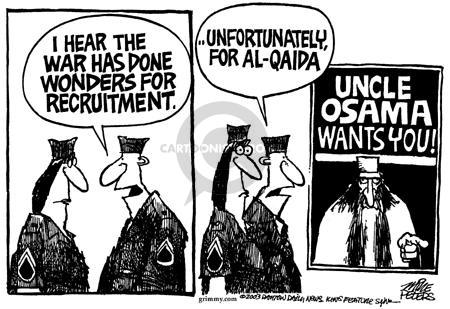 Cartoonist Mike Peters  Mike Peters' Editorial Cartoons 2003-03-30 terrorist