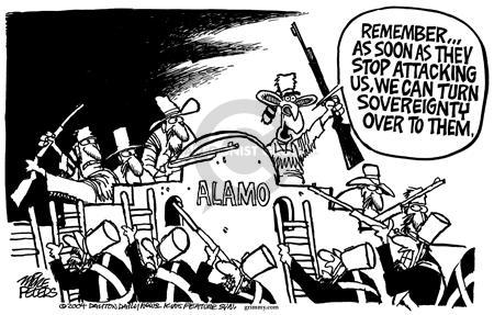 Cartoonist Mike Peters  Mike Peters' Editorial Cartoons 2004-04-09 insurgent