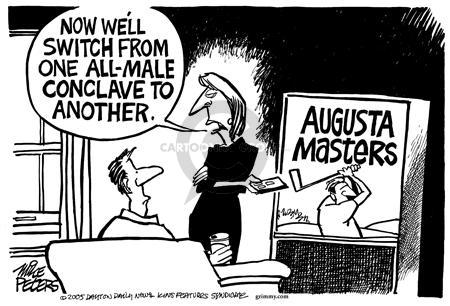 Cartoonist Mike Peters  Mike Peters' Editorial Cartoons 2005-04-10 male