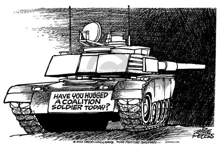 Mike Peters  Mike Peters' Editorial Cartoons 2003-04-11 Iraq military