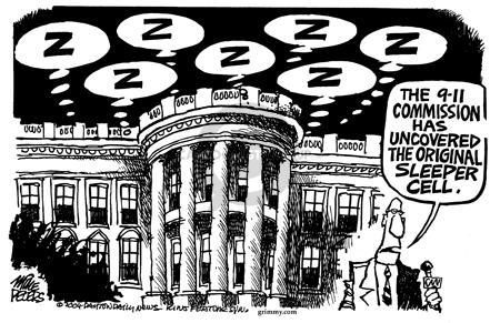 Cartoonist Mike Peters  Mike Peters' Editorial Cartoons 2004-04-11 sleep