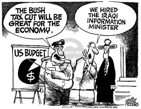 Cartoonist Mike Peters  Mike Peters' Editorial Cartoons 2003-04-12 contradiction