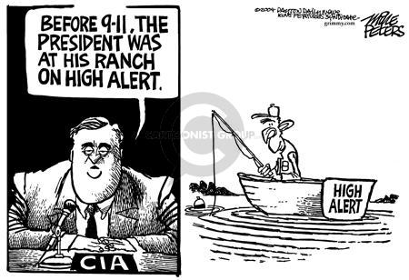 Cartoonist Mike Peters  Mike Peters' Editorial Cartoons 2004-04-17 9-11-01