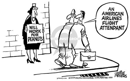 Cartoonist Mike Peters  Mike Peters' Editorial Cartoons 2003-04-19 compensation