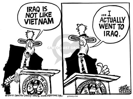 Cartoonist Mike Peters  Mike Peters' Editorial Cartoons 2004-04-23 National Guard