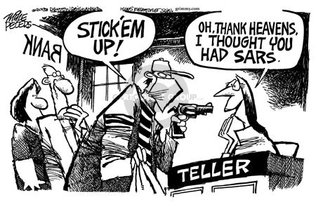 Mike Peters  Mike Peters' Editorial Cartoons 2003-04-24 SARS