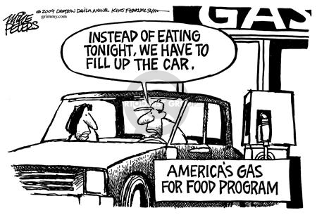 Mike Peters  Mike Peters' Editorial Cartoons 2004-04-25 gas price
