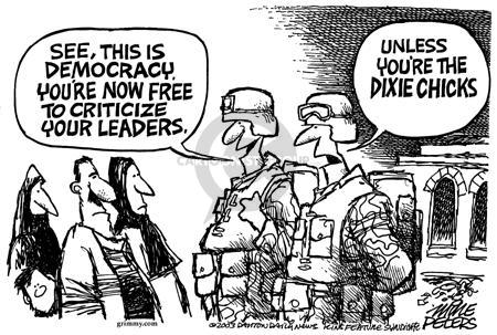 Cartoonist Mike Peters  Mike Peters' Editorial Cartoons 2003-04-27 liberty