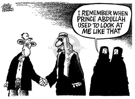 Cartoonist Mike Peters  Mike Peters' Editorial Cartoons 2005-04-28 Crawford, Texas