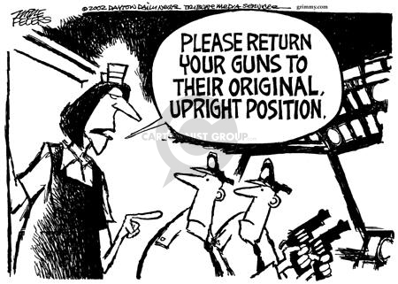 Cartoonist Mike Peters  Mike Peters' Editorial Cartoons 2002-05-09 weapon