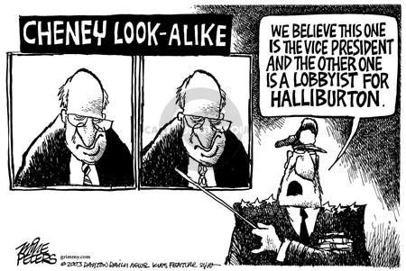 Cartoonist Mike Peters  Mike Peters' Editorial Cartoons 2003-05-09 lobbyist