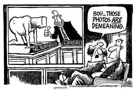 Cartoonist Mike Peters  Mike Peters' Editorial Cartoons 2004-05-12 photograph