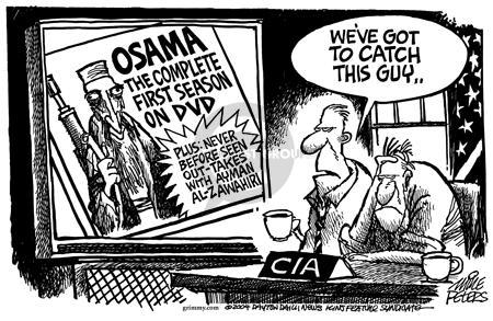 Cartoonist Mike Peters  Mike Peters' Editorial Cartoons 2004-05-13 terrorist