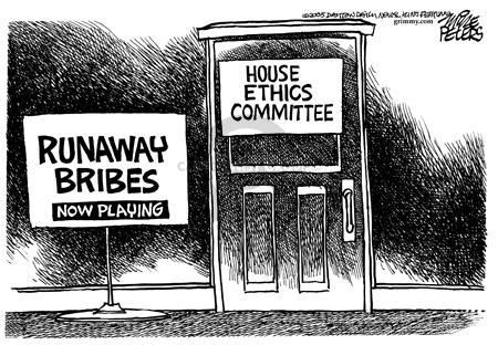 Cartoonist Mike Peters  Mike Peters' Editorial Cartoons 2005-05-13 political lobby