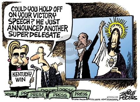 Cartoonist Mike Peters  Mike Peters' Editorial Cartoons 2008-05-20 election
