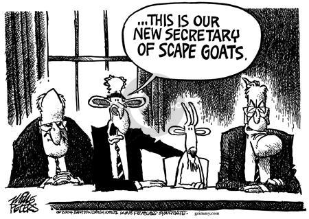 Cartoonist Mike Peters  Mike Peters' Editorial Cartoons 2004-05-21 presidential cabinet