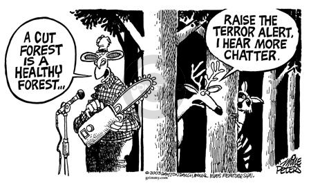 Cartoonist Mike Peters  Mike Peters' Editorial Cartoons 2003-05-23 intelligence