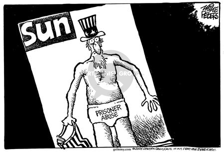 Cartoonist Mike Peters  Mike Peters' Editorial Cartoons 2005-05-23 Uncle Sam