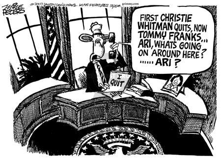 Cartoonist Mike Peters  Mike Peters' Editorial Cartoons 2003-05-26 retirement
