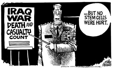 Cartoonist Mike Peters  Mike Peters' Editorial Cartoons 2005-05-28 pro-life