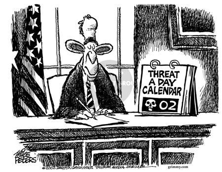 Cartoonist Mike Peters  Mike Peters' Editorial Cartoons 2002-05-30 war
