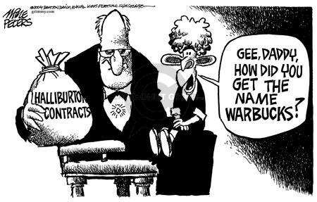Cartoonist Mike Peters  Mike Peters' Editorial Cartoons 2004-06-04 conflict of interest