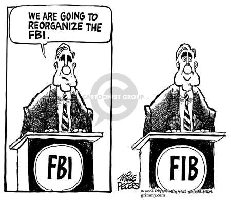 Cartoonist Mike Peters  Mike Peters' Editorial Cartoons 2002-06-05 fault