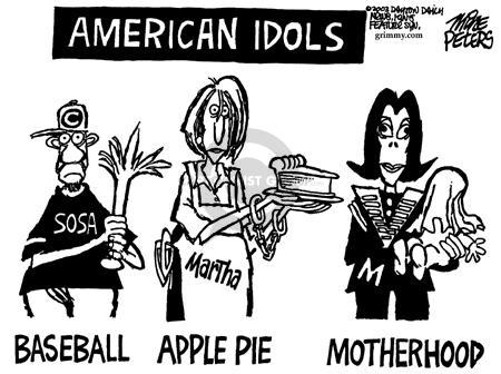 Cartoonist Mike Peters  Mike Peters' Editorial Cartoons 2003-06-09 trade