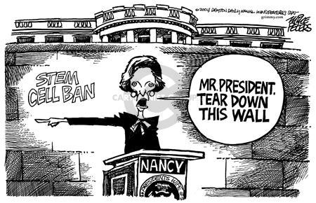 Cartoonist Mike Peters  Mike Peters' Editorial Cartoons 2004-06-10 Nancy Reagan