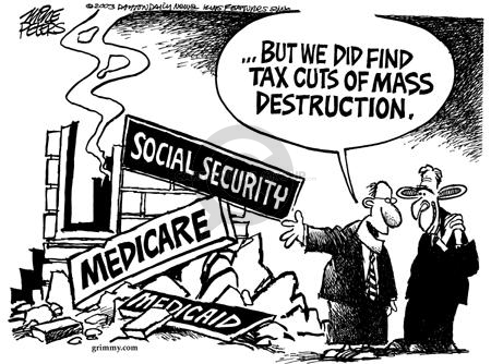 Cartoonist Mike Peters  Mike Peters' Editorial Cartoons 2003-06-12 George W. Bush