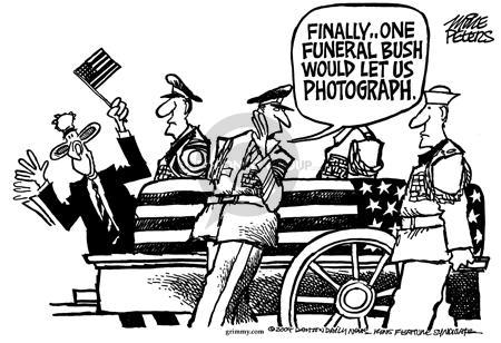 Cartoonist Mike Peters  Mike Peters' Editorial Cartoons 2004-06-13 photo