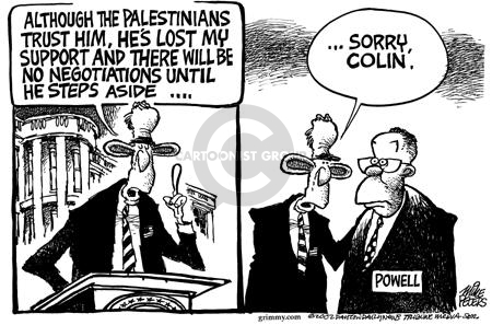 Cartoonist Mike Peters  Mike Peters' Editorial Cartoons 2002-06-27 presidential cabinet
