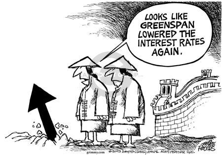 Looks like Greenspan lowered the interest rates again.
