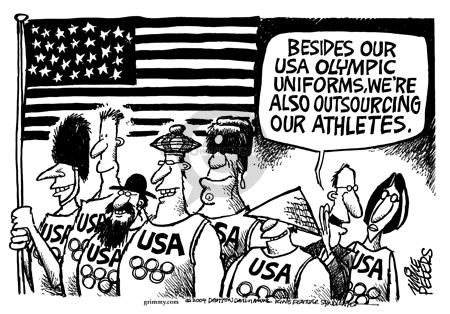 Mike Peters  Mike Peters' Editorial Cartoons 2004-06-29 summer Olympics