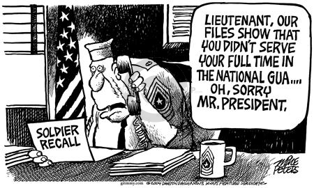 Cartoonist Mike Peters  Mike Peters' Editorial Cartoons 2004-07-03 National Guard