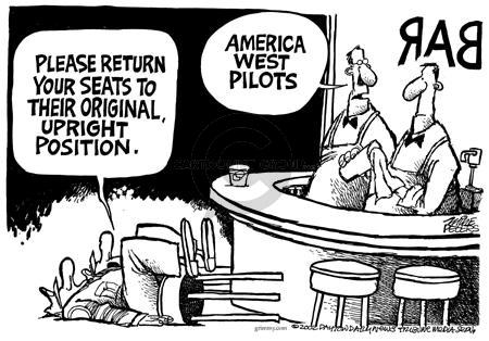 Cartoonist Mike Peters  Mike Peters' Editorial Cartoons 2002-07-05 airline travel